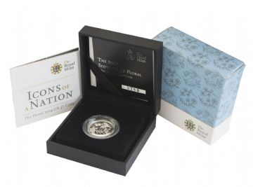 2014 Silver Proof Piedfort Floral Scotland One Pound